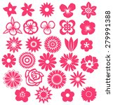 collection of flowers  | Shutterstock . vector #279991388
