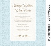 invitation card with blue... | Shutterstock .eps vector #279995222