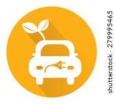 yellow circle eco car long... | Shutterstock . vector #279995465