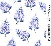 watercolor lilac pattern   Shutterstock . vector #279997136