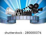 cinema  movie  film and video... | Shutterstock .eps vector #280000376