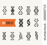 dna  genetic sign  elements and ... | Shutterstock .eps vector #280000715