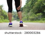 young fitness woman jogger hold ... | Shutterstock . vector #280003286