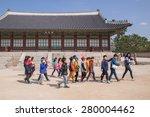 gyeongbokgung  seoul  south... | Shutterstock . vector #280004462