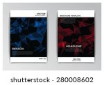 vector template of flyer with... | Shutterstock .eps vector #280008602