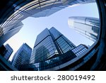 syscrapers in hong kong in... | Shutterstock . vector #280019492