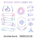 set of hipster vintage retro... | Shutterstock .eps vector #280023218