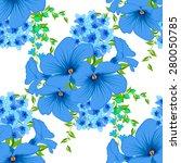 vintage floral seamless pattern.... | Shutterstock .eps vector #280050785