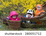 infant babies in flower basket | Shutterstock . vector #280051712