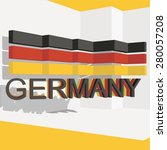 germany flag three dimensional... | Shutterstock .eps vector #280057208