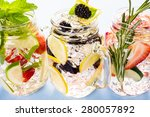 fresh infused water made with... | Shutterstock . vector #280057892