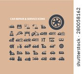 car repair  auto service icons... | Shutterstock .eps vector #280058162