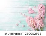 postcard with fresh flowers... | Shutterstock . vector #280062938