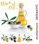 illustration of bottle with oil ... | Shutterstock .eps vector #280066592