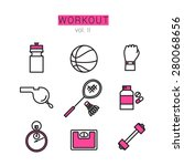 workout icons set for web and... | Shutterstock .eps vector #280068656