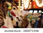 Carousel Horses At A Carnival...