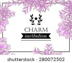 charm collection. vintage... | Shutterstock .eps vector #280072502