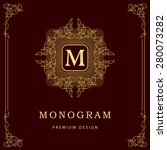 monogram design elements ...   Shutterstock .eps vector #280073282