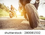 two motorcycles on the hills... | Shutterstock . vector #280081532