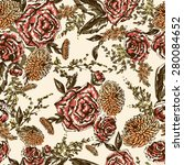 seamless floral pattern.... | Shutterstock .eps vector #280084652