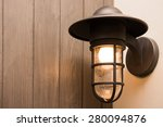 classic lamp in bedroom  light | Shutterstock . vector #280094876