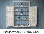 Vintage Shelf With Little...