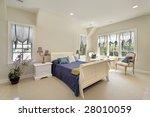 master bedroom in luxury home | Shutterstock . vector #28010059