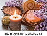 Aroma Candle  Sea Salt  Brown...