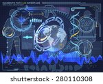elements for hud interface... | Shutterstock .eps vector #280110308