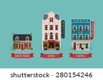 set of beautiful detailed... | Shutterstock .eps vector #280154246