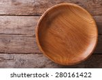 the brown wooden plate on a...   Shutterstock . vector #280161422