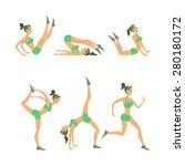 vector yoga illustration. set.... | Shutterstock .eps vector #280180172