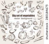 big set of vegetables. vector... | Shutterstock .eps vector #280184675