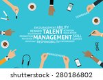 vector talent management... | Shutterstock .eps vector #280186802