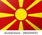 reflection flag macedonia | Shutterstock .eps vector #280204052