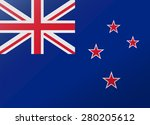 reflection flag new zealand | Shutterstock .eps vector #280205612
