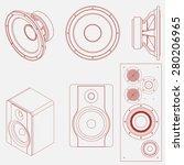 audio speaker icon. studio...   Shutterstock .eps vector #280206965