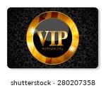 vip members card vector... | Shutterstock .eps vector #280207358