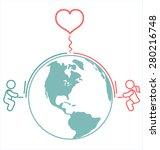 internet long distance...   Shutterstock .eps vector #280216748
