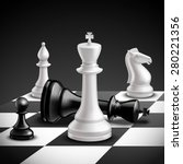 chess game concept with... | Shutterstock .eps vector #280221356