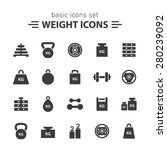 weight icons set. | Shutterstock .eps vector #280239092