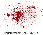 vector splatter red color...   Shutterstock .eps vector #280239815