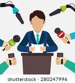 journalism design over white... | Shutterstock .eps vector #280247996