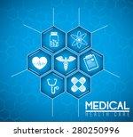 medical design over blue... | Shutterstock .eps vector #280250996