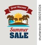summer design over white... | Shutterstock .eps vector #280251026