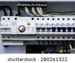 Main circuit box breaker - stock photo