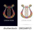 harp  lyre  designed using... | Shutterstock .eps vector #280268915