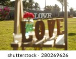 message of love with metal... | Shutterstock . vector #280269626