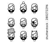 avatar face line icon   Shutterstock .eps vector #280272296