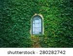 Old Church Window Surrounded B...